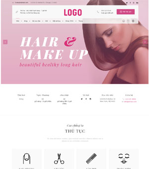 mẫu website spa 10